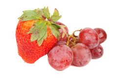 Grape and strawberry Royalty Free Stock Image