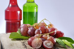 Grape and syrup Royalty Free Stock Images