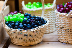 Grape on the table background Stock Images