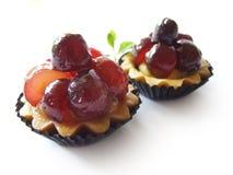 Grape Tart. Fresh Grape tart isolated on white background Stock Images