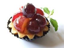 Grape Tart. Macro picture of fresh tart with grape Stock Photos
