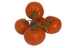 Grape tomatoes. Grape tomates with clipping path, isolated on white background Stock Image