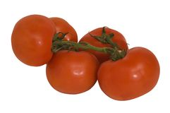 Grape tomatoes. Grape tomates with clipping path, isolated on white background Royalty Free Stock Photos