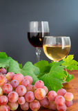 Grape and two glasses Royalty Free Stock Photo
