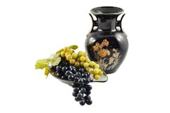 Grape with vase Royalty Free Stock Photography