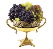 Grape in vase isolated Royalty Free Stock Images