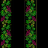 Grape vine floral pattern Stock Photography