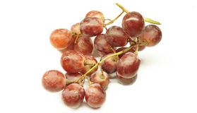 Grape  on white background with selective focus. Stock Photos