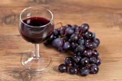 Grape and wine Stock Image