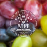 Grape wine background Royalty Free Stock Photos