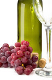 Grape wine bottle and glass Royalty Free Stock Photo