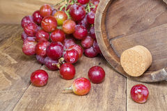 Grape with wine bucket Stock Photography