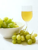 Grape and wine glass Royalty Free Stock Photography