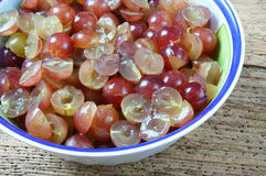 Grape wine, grape fruit, alcoholic fermentation Royalty Free Stock Images