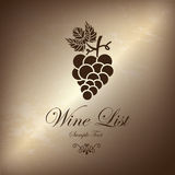 Grape wine list Stock Photo