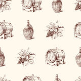 Grape wine pattern Royalty Free Stock Photography