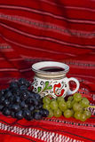 Grape and wine Stock Images