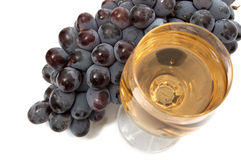 Grape and wineglass II Stock Images