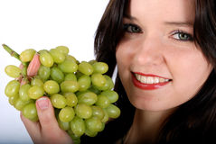 Grape and woman Stock Photography