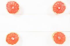 Grapefriut like frame on white background Royalty Free Stock Images