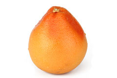 Grapefruit. The ripe big grapefruit, is photographed on a white background Royalty Free Stock Photo