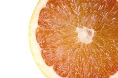Grapefruit. A grapefruit half isolated on a perfectly white background royalty free stock images