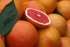 Grapefruit. And leaf, vitamin, fruit Royalty Free Stock Images