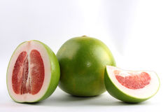 Grapefruit. Sliced pomelo or the other name is grapefruit Royalty Free Stock Images