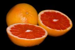 Grapefruit. Red grapefruit with black background Stock Photo