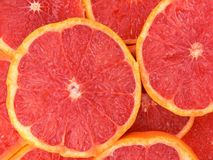 Grapefruit. Juicy and delicious slices of grapefruit Stock Images