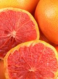 Grapefruit. Juicy and fresh slices of grapefruit Stock Images