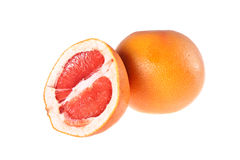Grapefruit. On a white background Royalty Free Stock Images