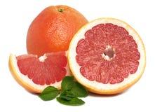 Grapefruit. Isolated on a white background royalty free stock photo