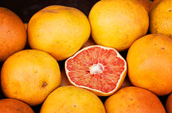 Grapefruit. Fresh grapefruit at a market in Tigre, Buenos Aires royalty free stock photos