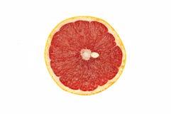 Grapefruit. Round slices of grapefruit on white background stock photo