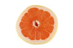 Grapefruit. Macro photo Grapefruit Slice Isolated On White stock image