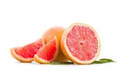 Grapefruit. Fresh grapefruit on a white background royalty free stock images