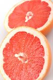 Grapefruit. A white background circle Royalty Free Stock Images