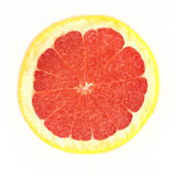 Grapefruit. A grapefruit isolated on a white background Royalty Free Stock Photo