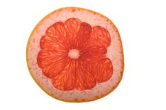 Grapefruit. Red grapefruit on white background Royalty Free Stock Photos