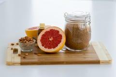 Grapefruit Almond Oil Scrub set Royalty Free Stock Photo