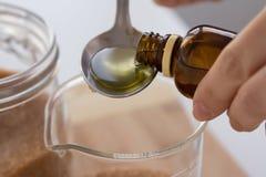 Grapefruit Almond Oil Scrub set Royalty Free Stock Photos
