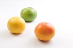 Grapefruit & Pompelmoes Stock Afbeeldingen