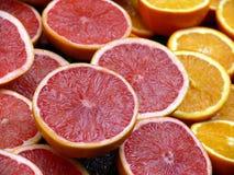 Grapefruit And Orange Backroung Royalty Free Stock Photo
