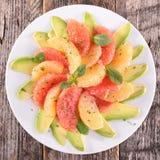 Grapefruit and avocado salad Royalty Free Stock Photography