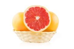 Grapefruit in the basket Stock Photo