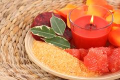 Grapefruit bath Royalty Free Stock Photo