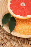 Grapefruit bath salt Royalty Free Stock Photography