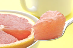 Grapefruit Bite Stock Photo