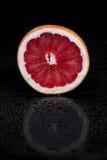 Grapefruit. On a black background Stock Images
